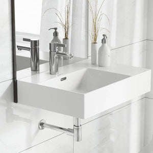 Wall Mount Bathroom Sink - SM-WS322 St. Tropez 24 X 18 Ceramic Wall Hung Sink With Left Side Faucet Mount