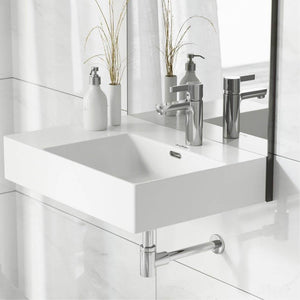 Wall Mount Bathroom Sink - SM-WS323 St. Tropez 24 X 18 Ceramic Wall Hung Sink With Right Side Faucet Mount