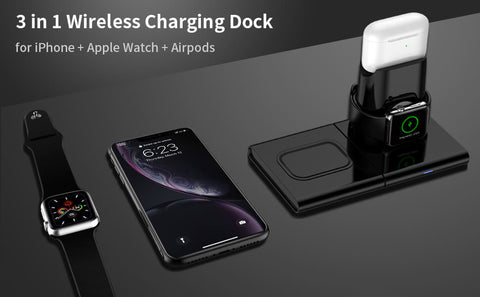 Wireless Charger Station for Multiple 3 Devices