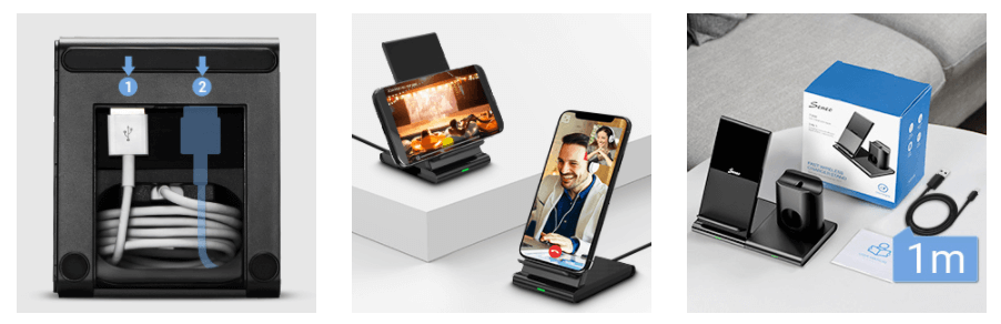 3in1 wireless charging station for apple device