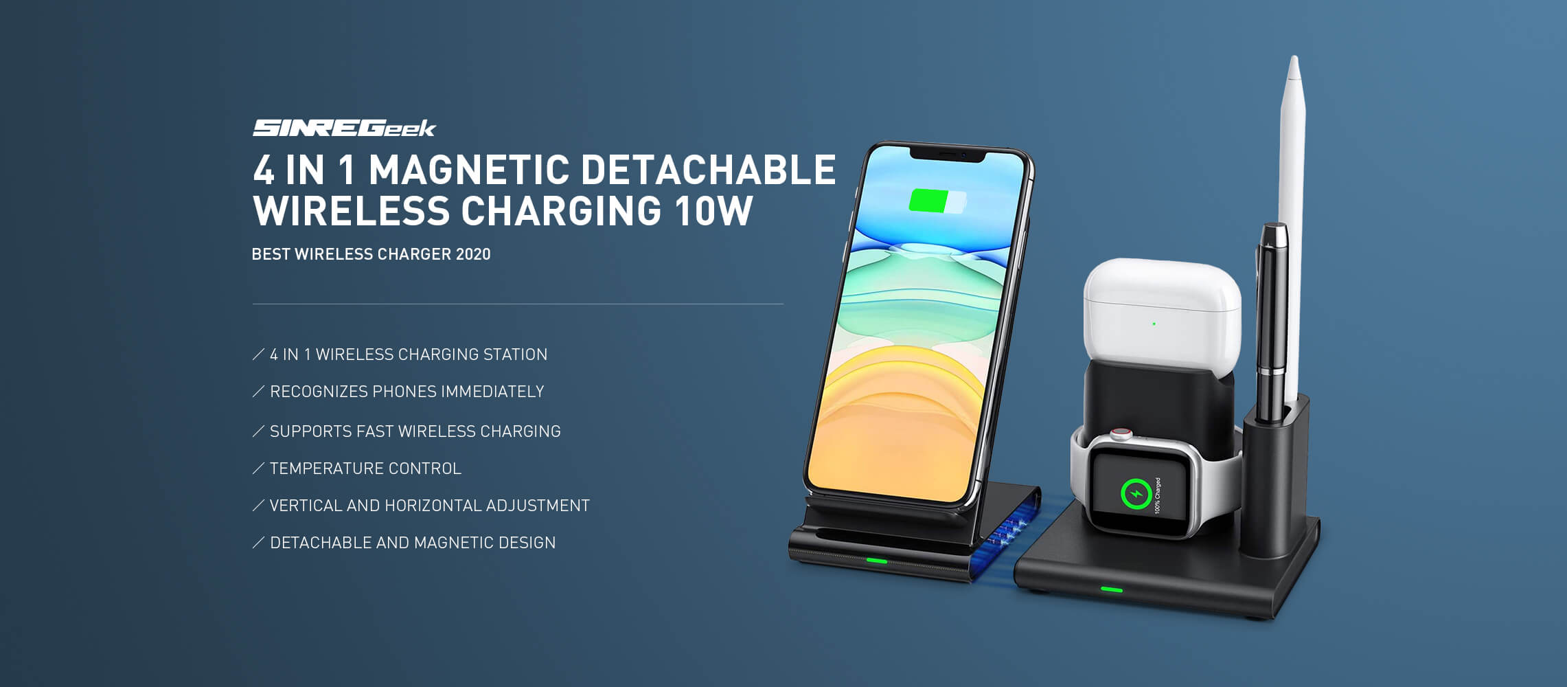 wireless charger makes your desk tidy