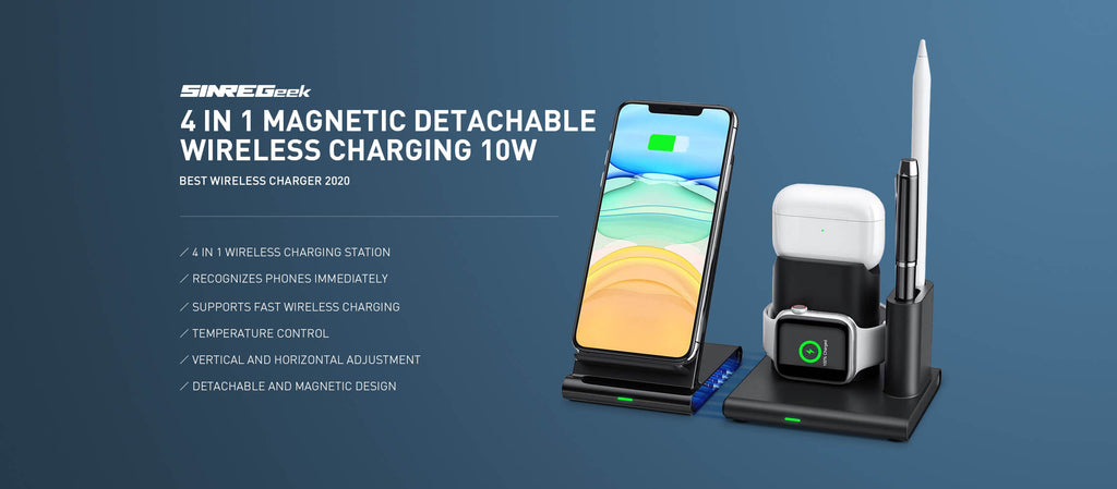 Wireless charging station for apple products