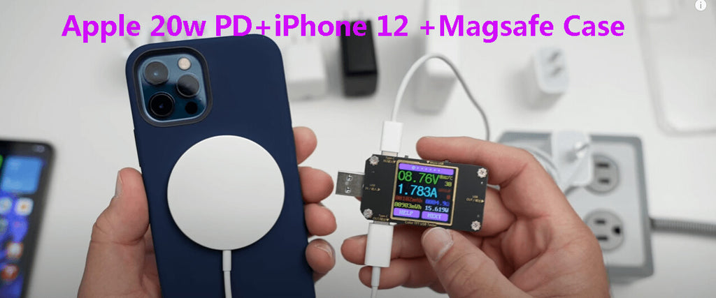 Apple 20w pd + iphone 12 + magsafe case