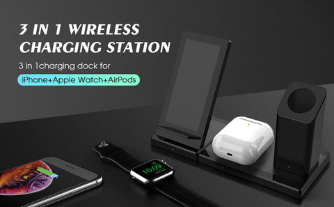apple watch, Airpod pro and iphone wireless charger