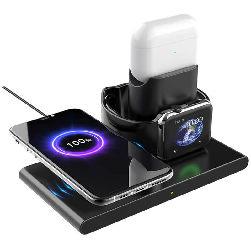 Wireless charging station iphone 12 and apple watch 6