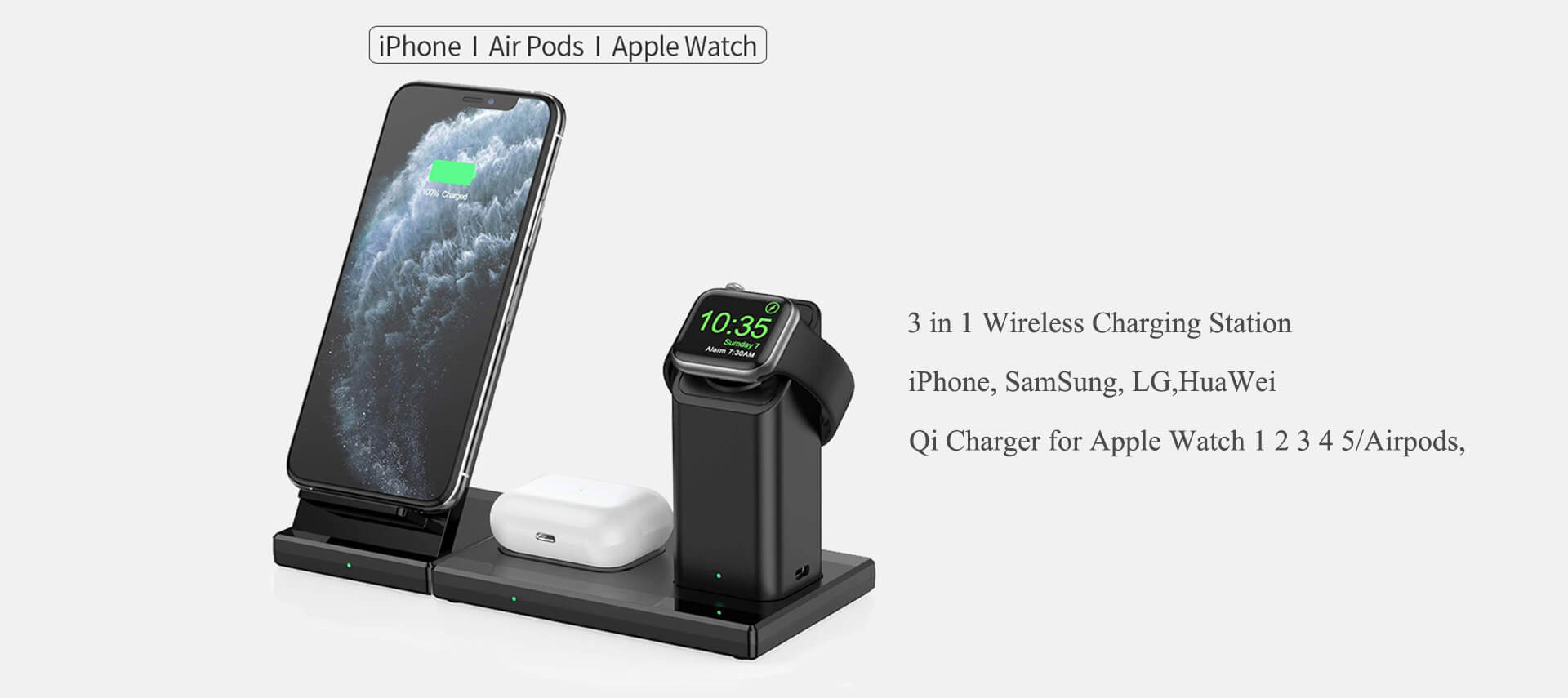 iphone 12 3in1 wireless charging station