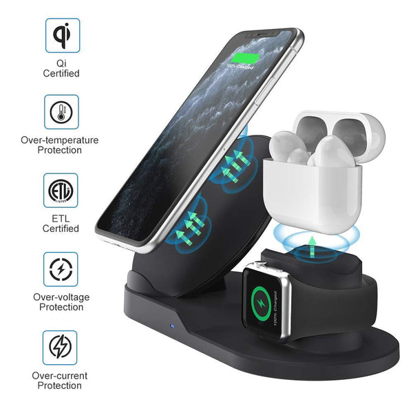 3 in 1 Wireless Charging Station for Watch,Airpads Pro