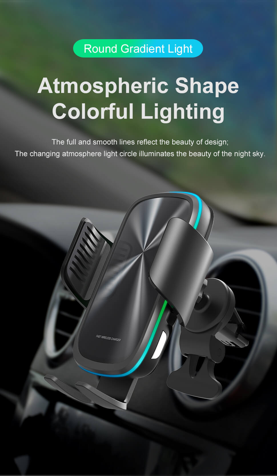 dashboard wireless charging car mount