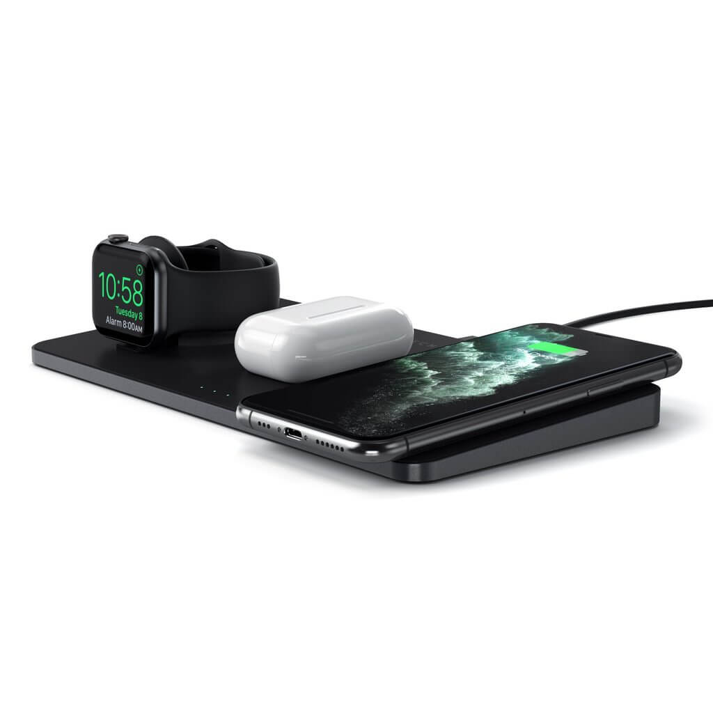 satechi trio wireless charging pad airpods and apple watch