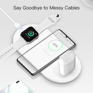 SINREGeek Best 3 in 1 wireless charger airpods pro,Iphone and Apple watch - Wireless520