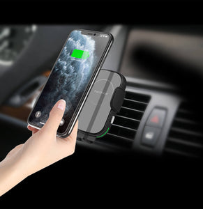 auto clamping car wireless charger