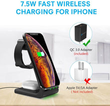 Load image into Gallery viewer, 3 in 1 charging station stand for iphone