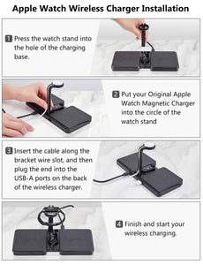 SINREGeek 4in1 best wireless charger dual pad design(0 bad Reviews) - Wireless520