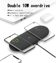 Load image into Gallery viewer, 3in1 TRUE wireless charging pad with built-in apple watch charger - Wireless520