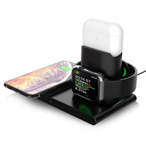 wireless charging dock iphone and apple watch