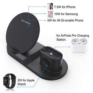 wireless charging station for iphone