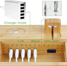 Load image into Gallery viewer, mobilevision bamboo charging station