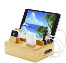 Load image into Gallery viewer, bamboo charging station