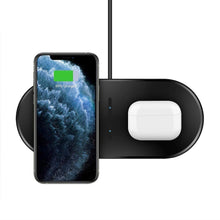 Load image into Gallery viewer, dual wireless charger iphone and airpods