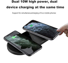 Load image into Gallery viewer, dual wireless charger pad