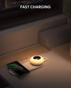 bedside night light lamp with wireless charger