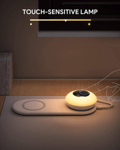 table night light lamp with wireless charger