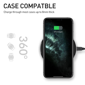 SINREGeek Fast 15W Wireless Charger For Huawei P40 Samsung Z Flip S20 S10 S9 Qi 10W Quick Charge for iPhone 11 XS XR X 8 - Wireless520