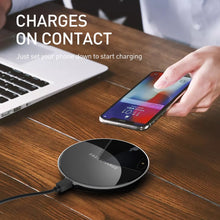 Load image into Gallery viewer, SINREGeek Fast 15W Wireless Charger For Huawei P40 Samsung Z Flip S20 S10 S9 Qi 10W Quick Charge for iPhone 11 XS XR X 8 - Wireless520