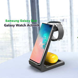 samsung charging station for phone watch and earbuds