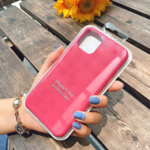 rose red silicone case iphone 11 pro max