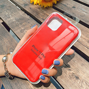 Red silicone case iphone 11