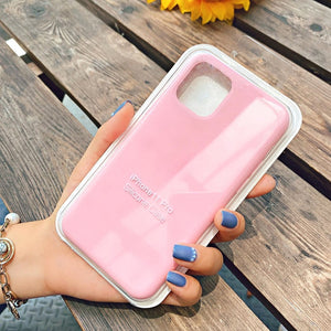 pink silicone shell for iphone 12