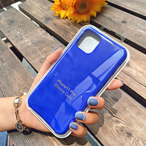 navy blue silicone case iphone 12 mini pro