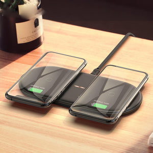 Dual Wireless Charger Pad QI Induction Charging - Wireless520