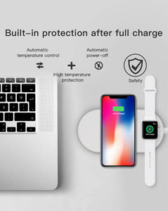 2in1 wireless charging pad for iphone and dock of Apple watch