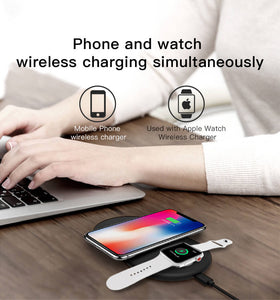 2in1 wireless charging pad and dock of Apple watch