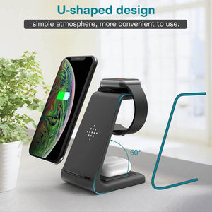 3 in 1 charging station samsung iphone and airpods
