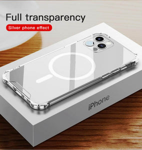 silver iphone 12 protective case