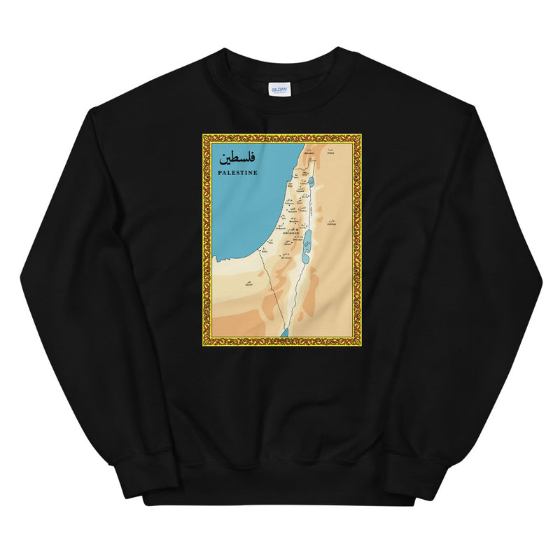 Vintage Palestine Map – Sweater