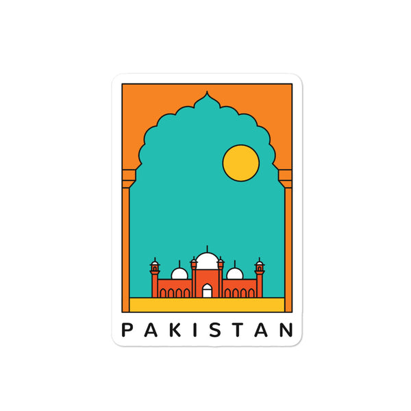 Pakistan at Sunset - Sticker