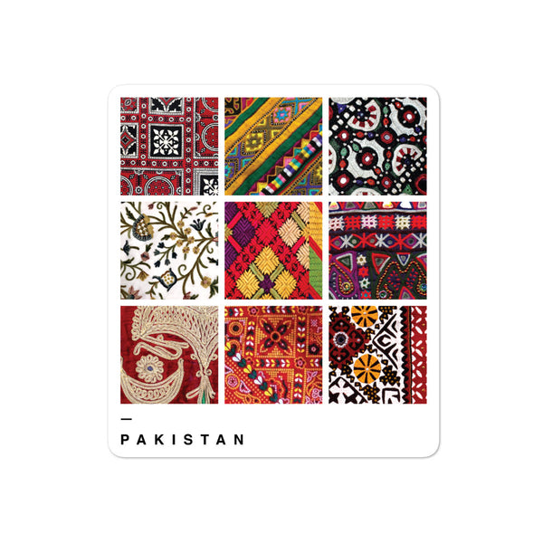 Textiles of Pakistan - Sticker