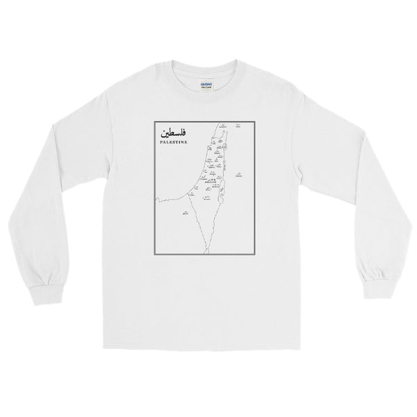 Map of Palestine – Long Sleeve