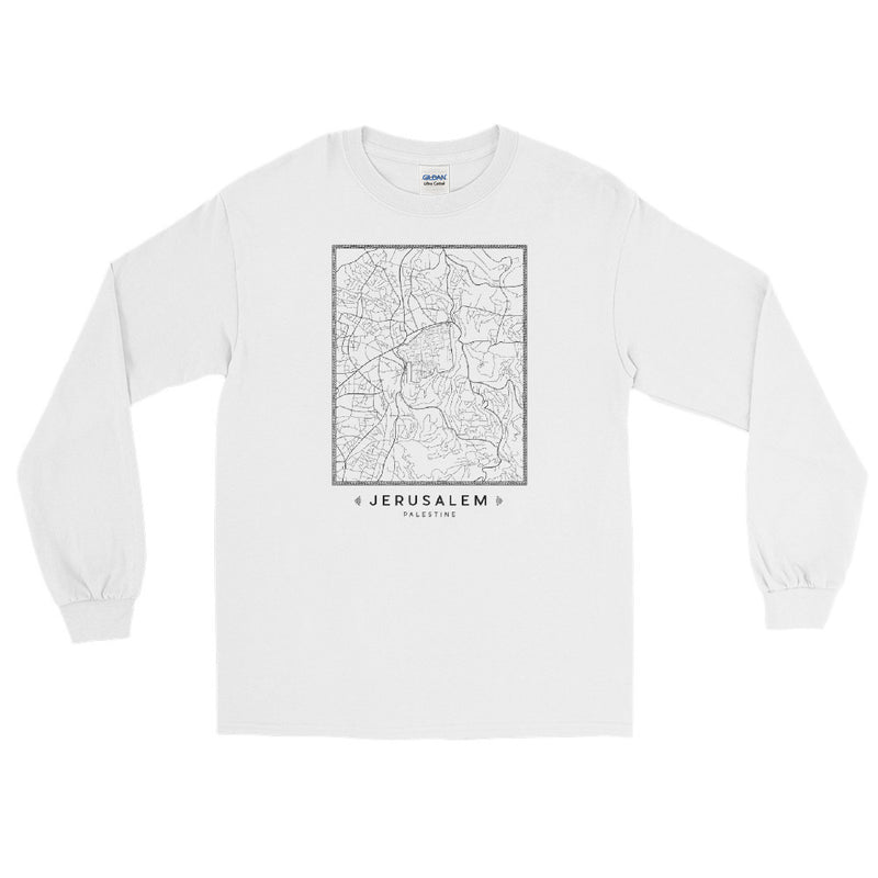 Jerusalem Map – Long Sleeve