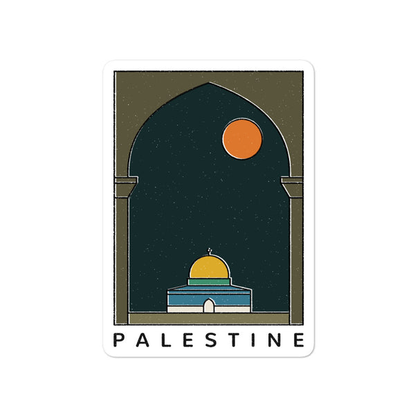 Palestine at Night - Sticker