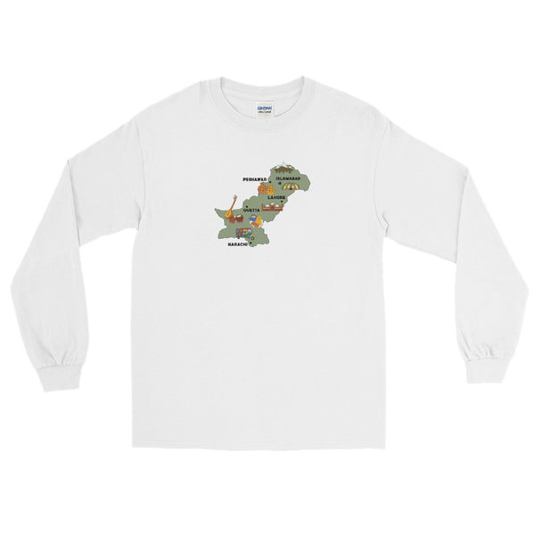 Map of Pakistan - Long Sleeve