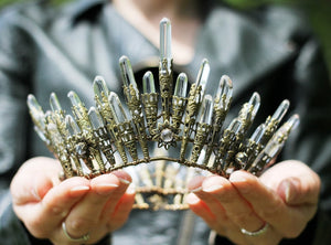 Queen of Swords Crown :: brass