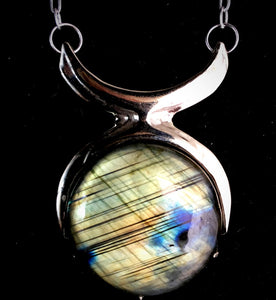 Priestess Necklace :: special smooth labradorite