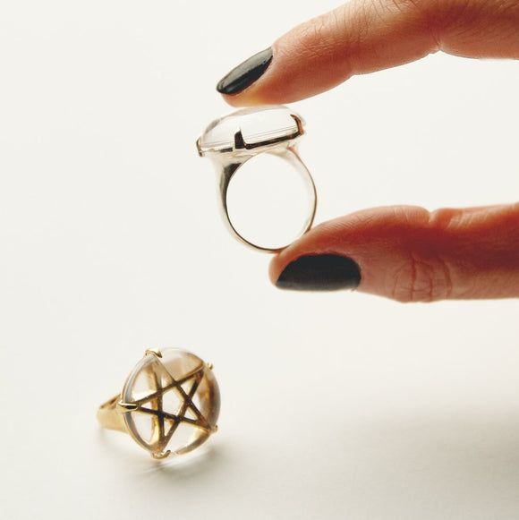Priestess Ring : clear quartz