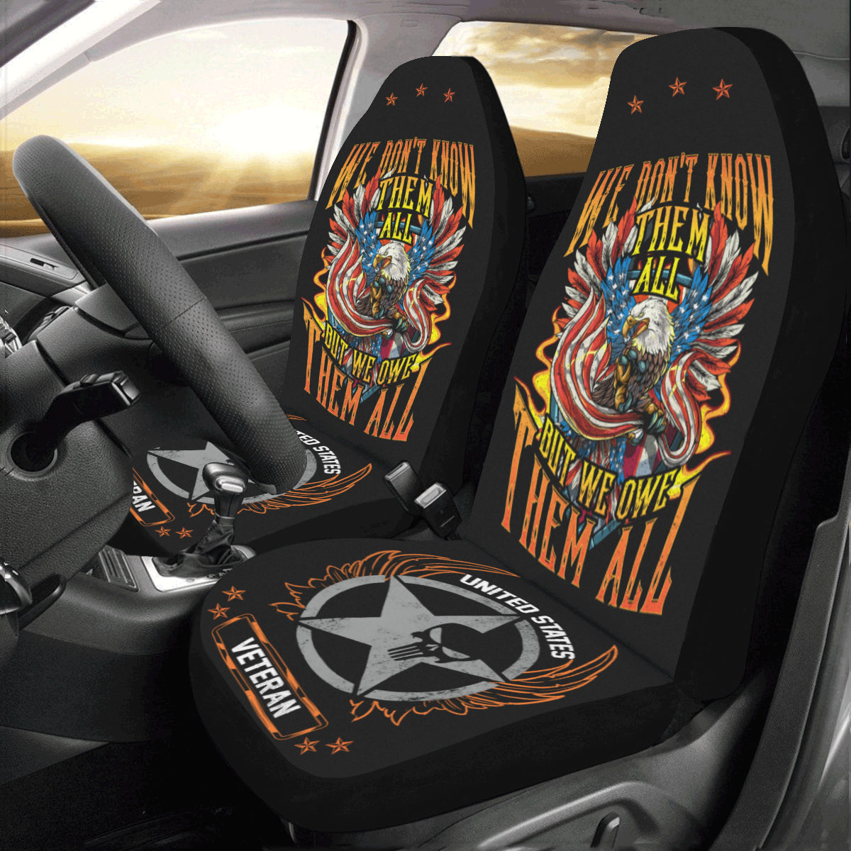 We Owe Them All Seat Covers