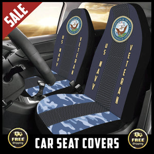 Navy Veteran Car Seat Covers